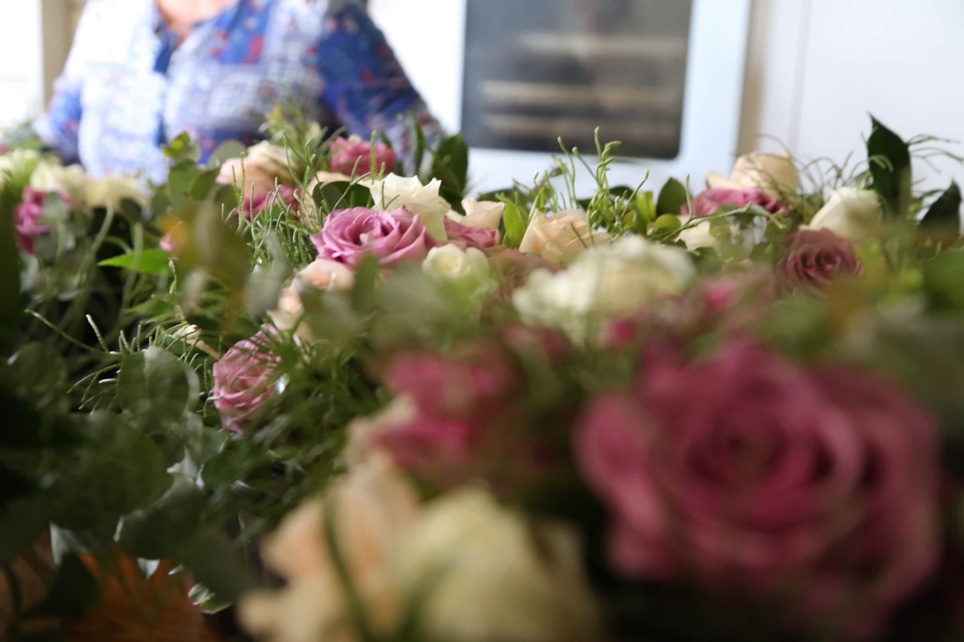 Snowgums Wedding roses